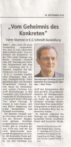 Soester Anzeiger 20140919 Vom Geheimnis des Konkreten