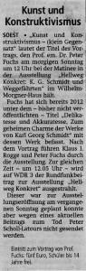 Soester Anzeiger 23. August 2014 Fuchs