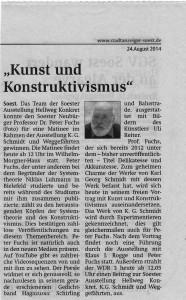 Stadt Anzeiger 24. August 2014 Fuchs